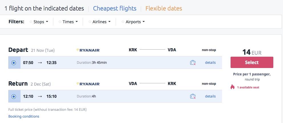 Letenky do Izraela už za skvelých 14€