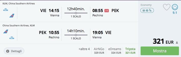 AKCIA! Do Pekingu z Viedne s letenkami od 321€