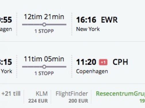 Akciové tarify z Kodaňe do New Yorku, Bostonu, Chicaga od 190€ s KLM