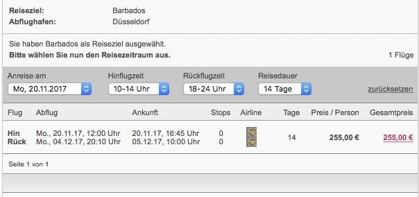 POZOR! Spiatočná letenka Dusseldorf – Barbados za 255€
