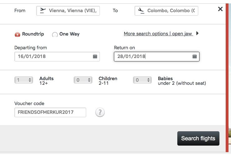 Spiatočný priamy let z Viedne na Srí Lanku od 544€