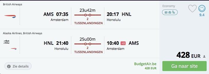 Havajské ostrovy z Amsterdamu už od 429€