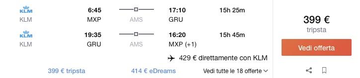 Do Brazílie s KLM už od 391€