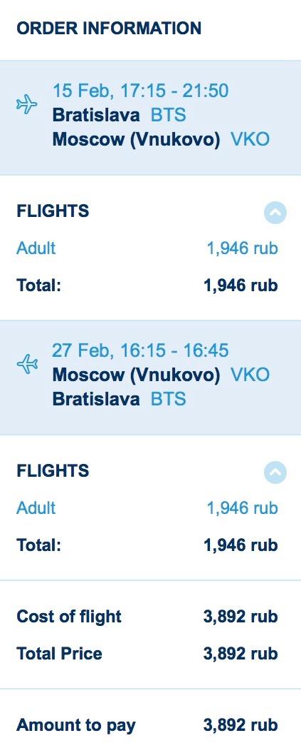 Zimná Moskva z Bratislavy od 57€