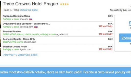 Dve noci v Prahe v 4* hoteli už za 62€ pre dve osoby