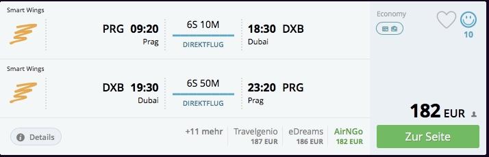 Z Prahy do Dubaja priamo už za 182€