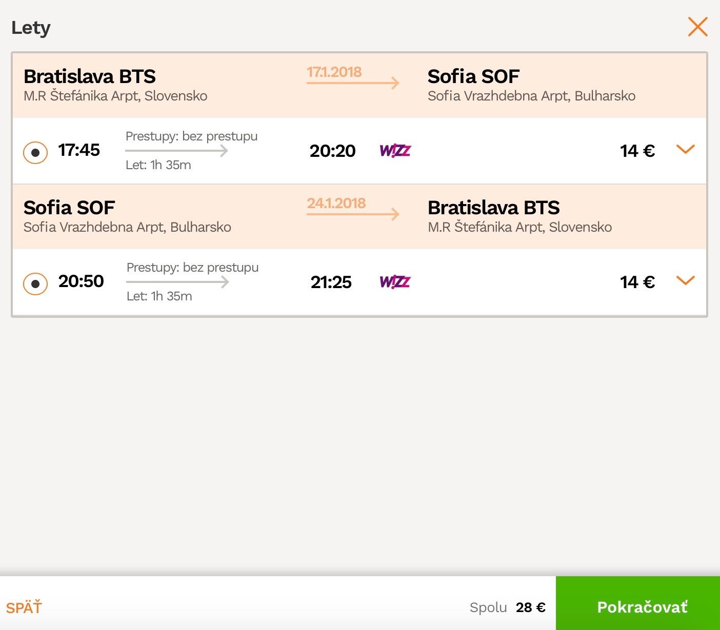 Bratislava – Sofia – Bratislava od 28€