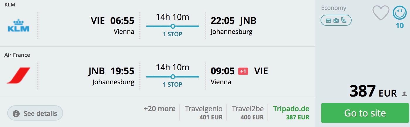 Johannesburg z Viedne od 387€
