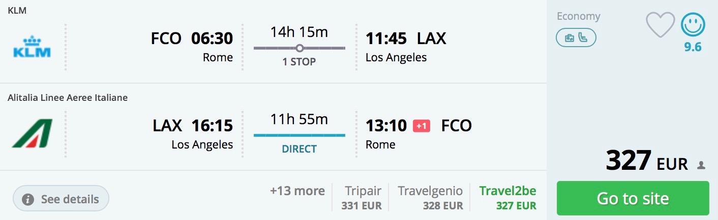 Los Angeles z Ríma od skvelých 327€