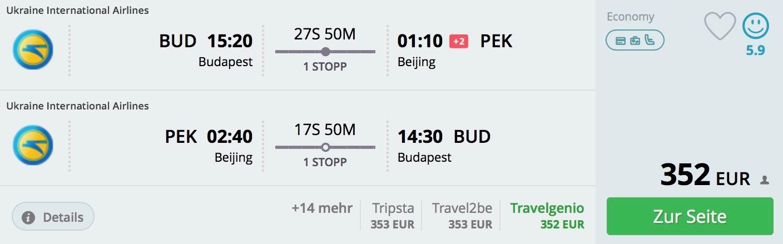 Peking z Budapešti od 352€