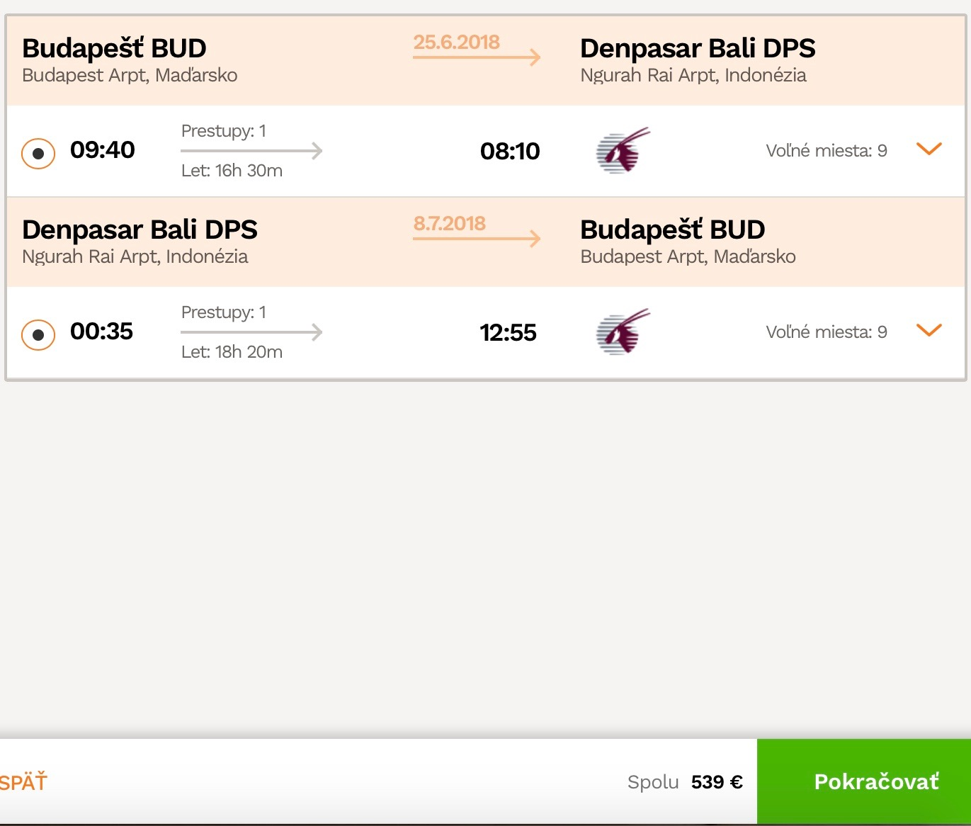 Bali z Budapešti za 539€
