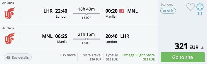 Z Londýna do Thajska, Filipín, Malajzie a Singapuru už od 321€!