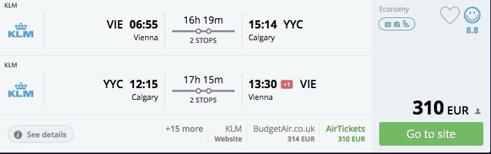 Z Viedne na západ USA a do Kanady už od 309€