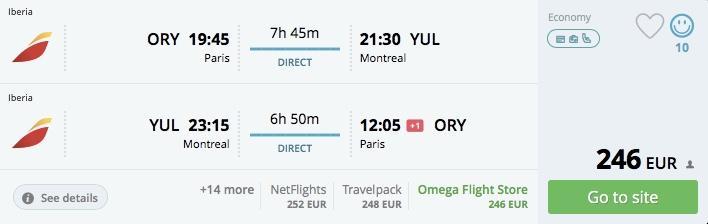 Akciové letenky z Paríža do Montrealu už od 246€!