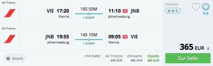 Viedeň – Johannesburg od 365€