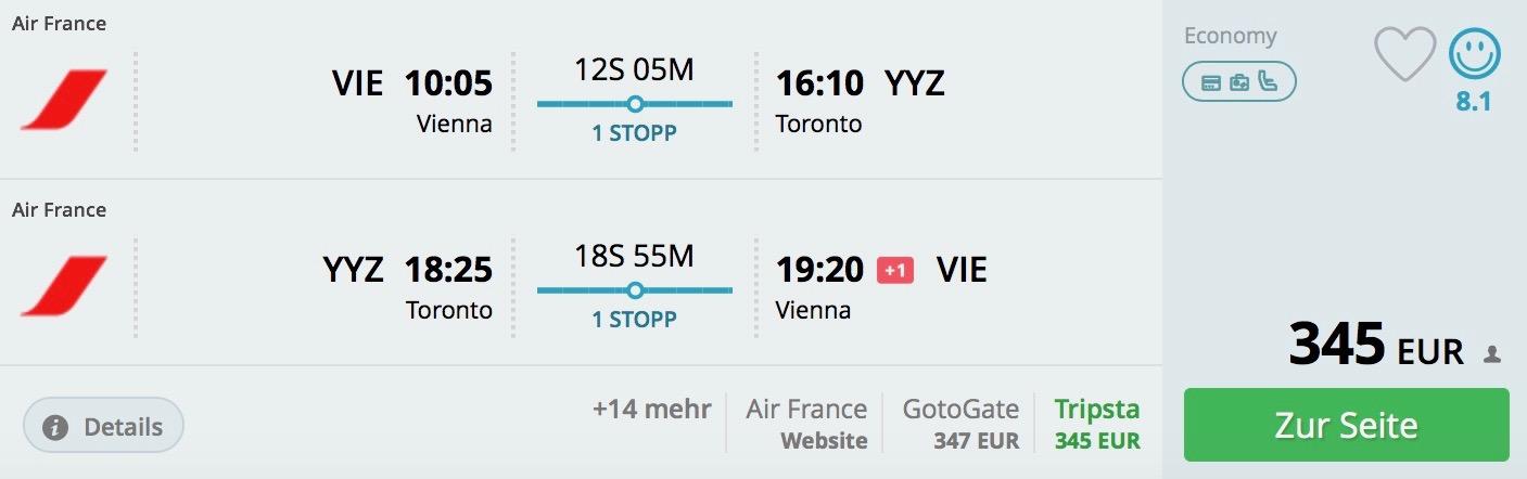 Toronto z Viedne už od 345€