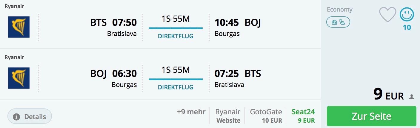 Bulharsko za neuveriteľných 9€ spiatočne