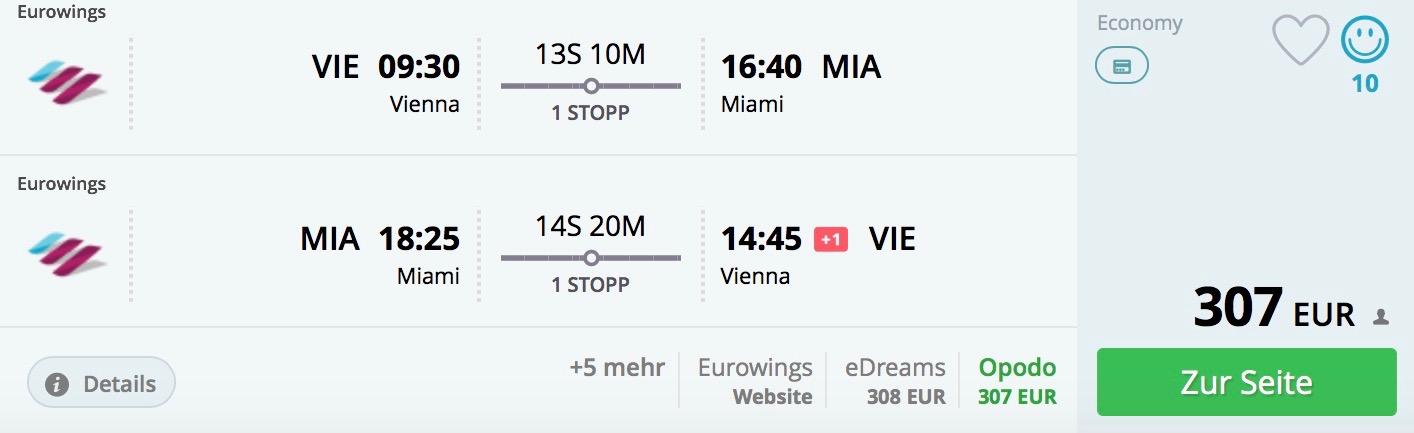 Miami z Viedne za skvelých 307€
