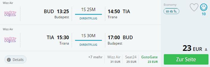 Albánsko – Tirana z Budapešti od 23€