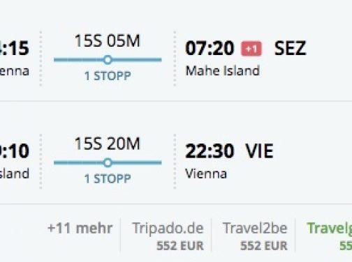 Viedeň – Seychely už za 511€