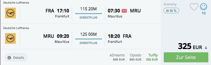Last minute ponuka! z Frankfurtu na Maurícius za 325€