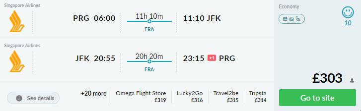 New York z Prahy od výborných 345€