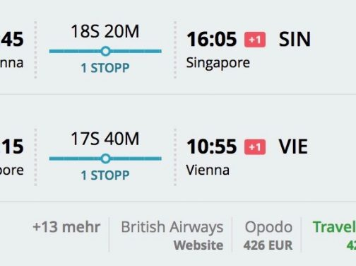 Viedeň – Singapur od výborných 425€