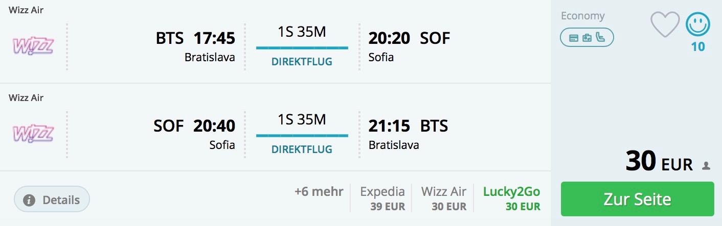 Bratislava – Sofia od 30€