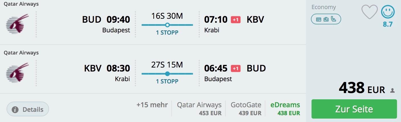 Thajsko: Krabi s odletom z Budapešti od 438€