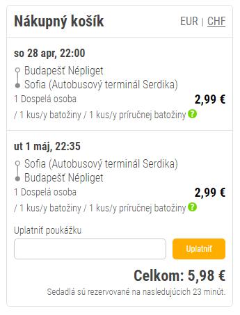 Autobusom z Budapešti do Sofie a späť za 5,98€