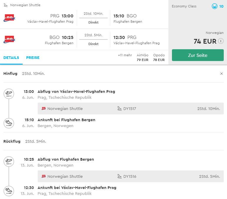 Nórsko: Bergen s odletom z Prahy od 74€