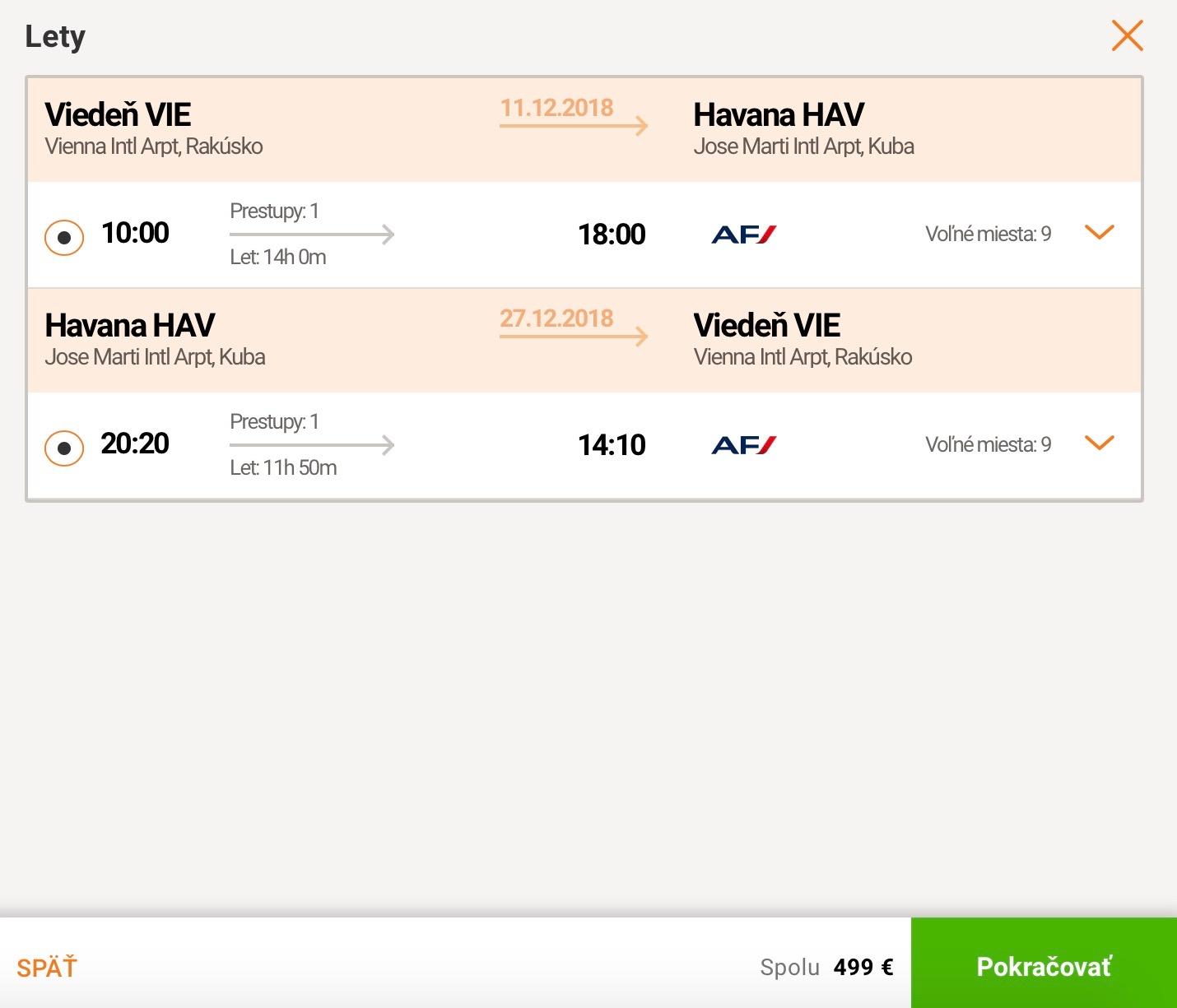 Havana z Viedne aj počas vianoc za 499€