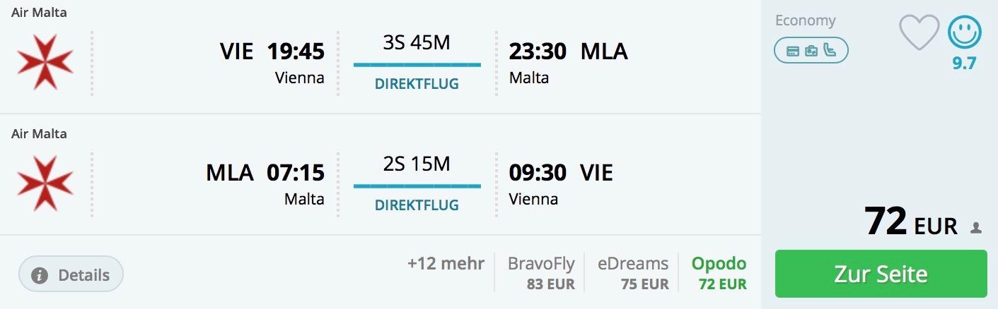 Malta z Viedne (priamy let) aj počas letných prázdnin od 72€
