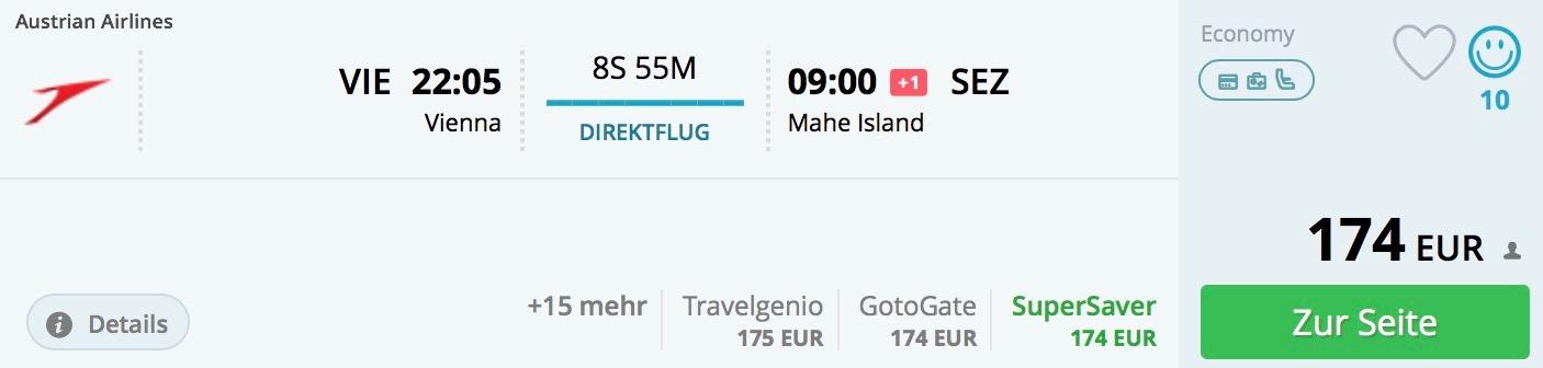 Jednosmerná letenka z Viedne na Seychely za neuveriteľných 174€