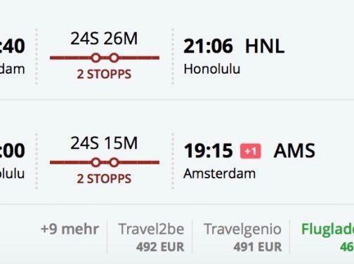 Hawaii s odletom z Amsterdamu od skvelých 460€