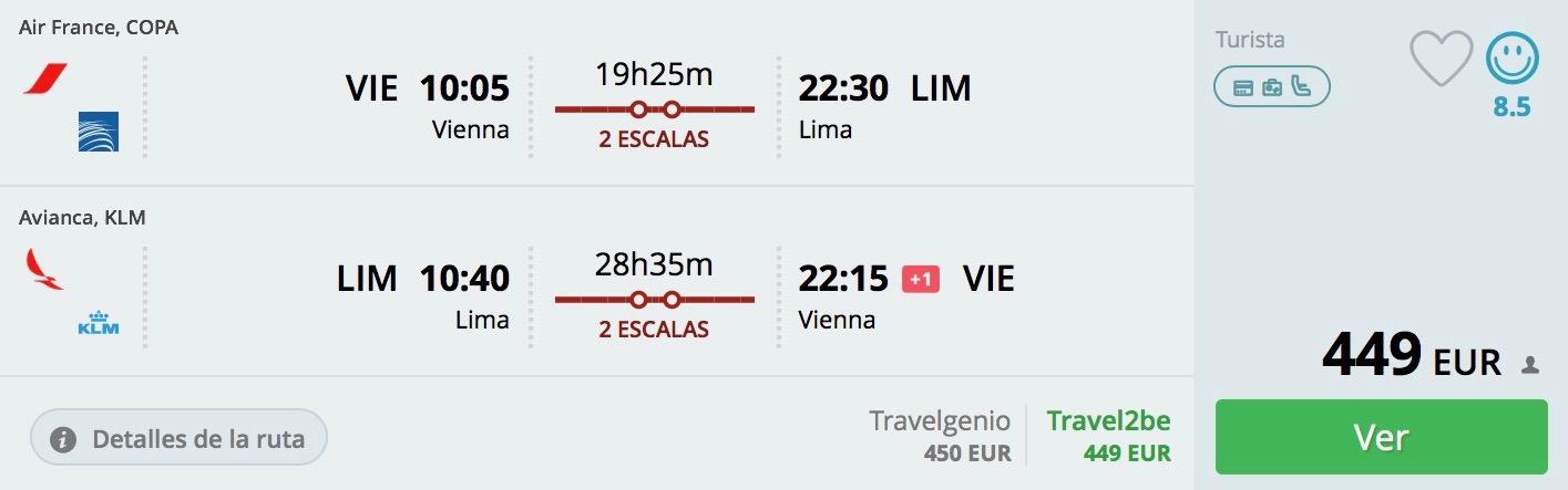 Peru: Lima s odletom z Viedne od 449€