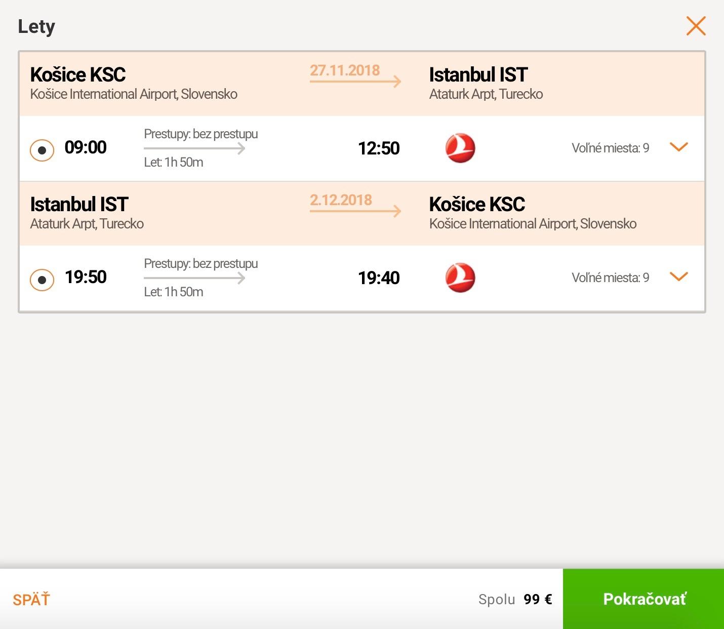 Istanbul z Košíc s Turkish Airlines za 99€