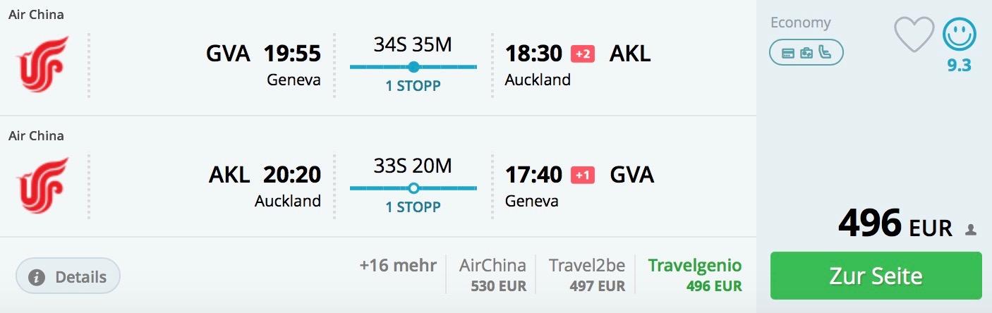 Nový Zéland: Auckland s odletom zo Ženevy od skvelých 496€ (na vianoce a silvestra od 517€)