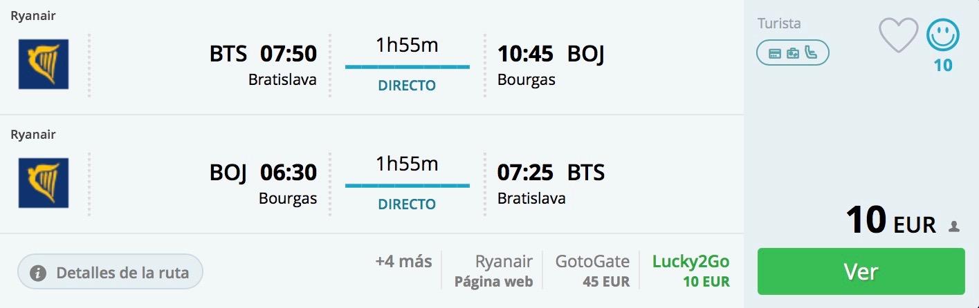 Bulharsko: Burgas s odletom z Bratislavy už od neuveriteľných 10€