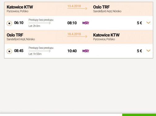 Katowice – Oslo už od neuveriteľných 10€