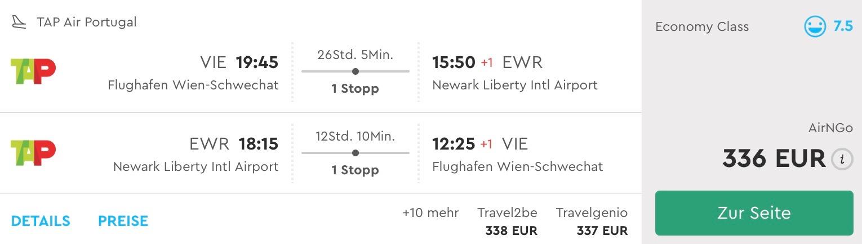 Viedeň – New York s TAP Portugal od 336€