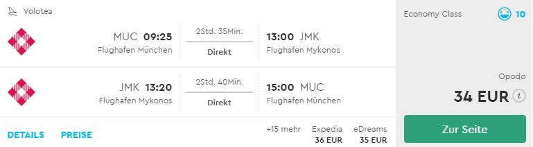 Mníchov – Mykonos v lete už od skvelých 34€