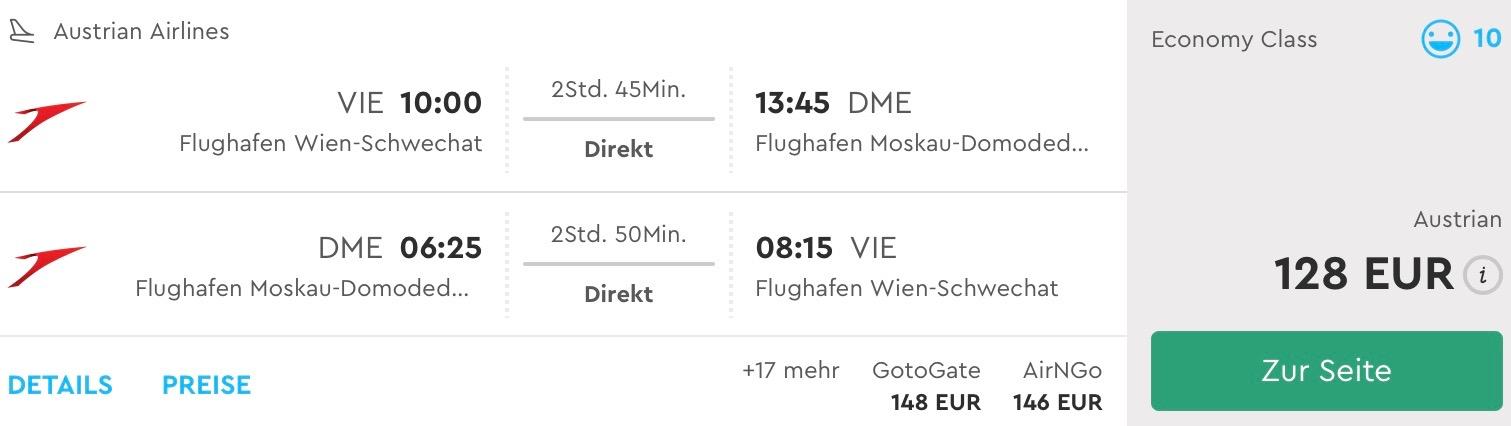 Predĺžený víkend v Moskve od 218€ v 4* hoteli a priamym letom z Viedne