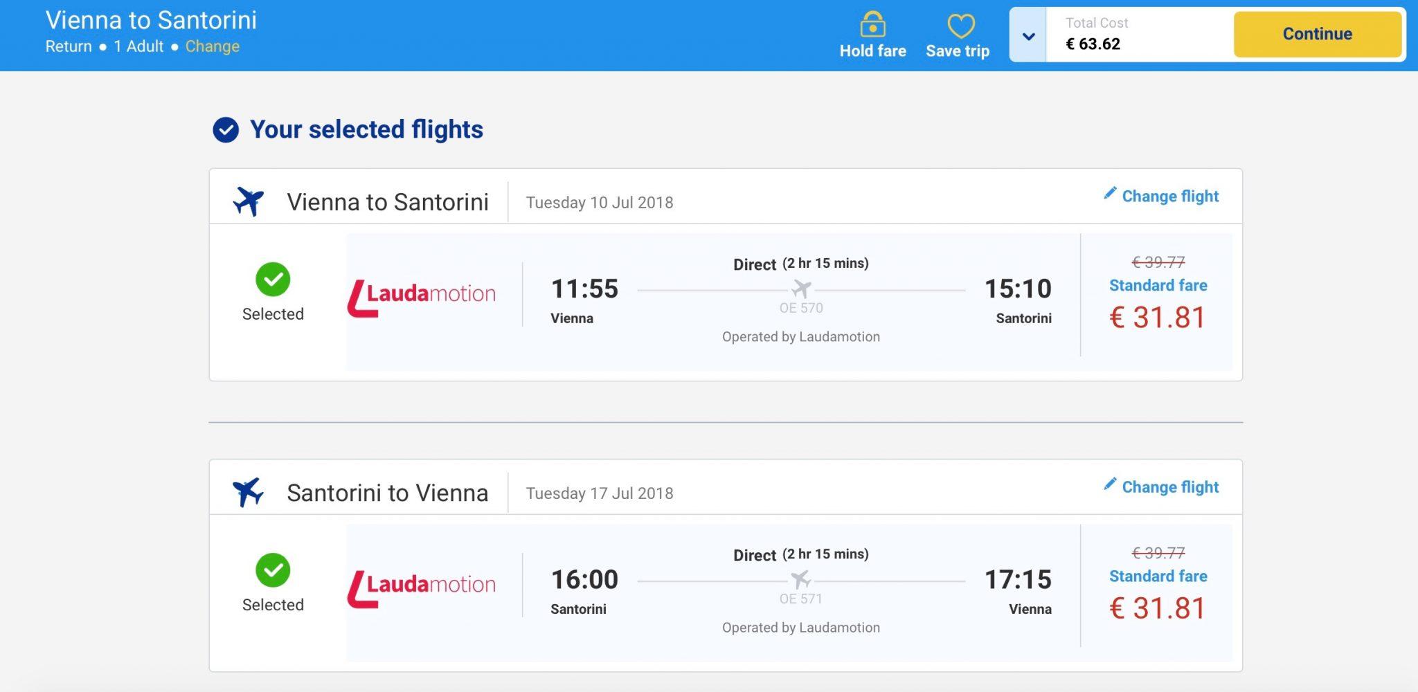 Super ponuka: Viedeň – Santorini v lete už od 64€