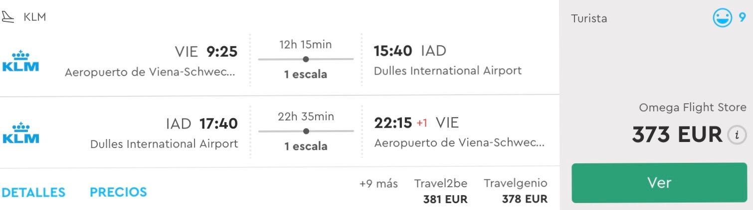 Viedeň – Washington už od 373€