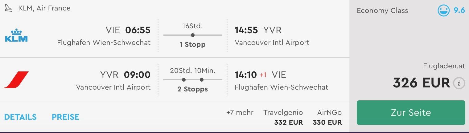 Západ Kanady: Vancouver s odletom z Viedne od skvelých 326€