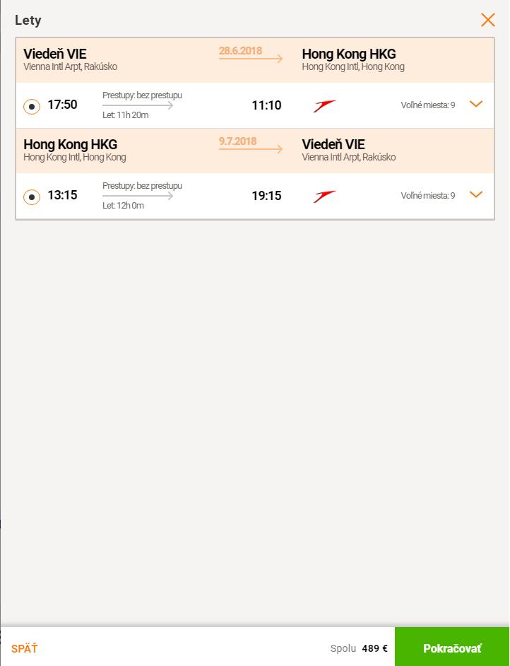 Viedeň – Hong Kong bez prestupu s Austrian Airlines už za 489€