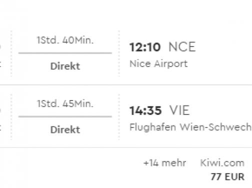 Viedeň – Nice aj v lete už od 60€
