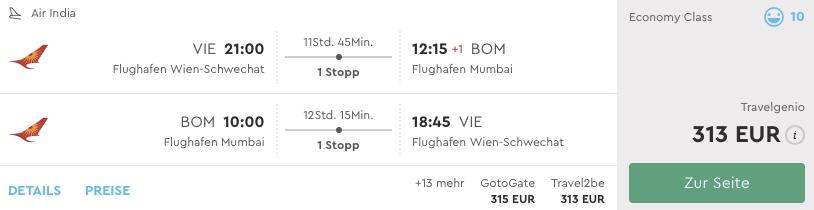 Z Viedne do Indie už od 313€