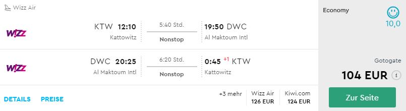 Priamy let Katowice – Dubaj už od neuveriteľných 104€